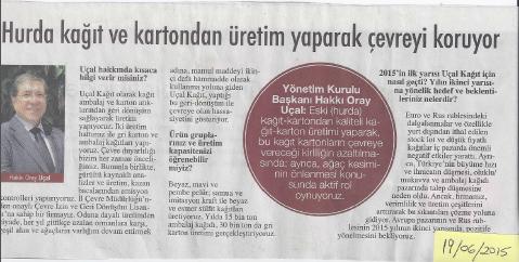 Hakkı Oray Uçal Hürriyet Gazetesi Röportaj | 19 Haziran 2015